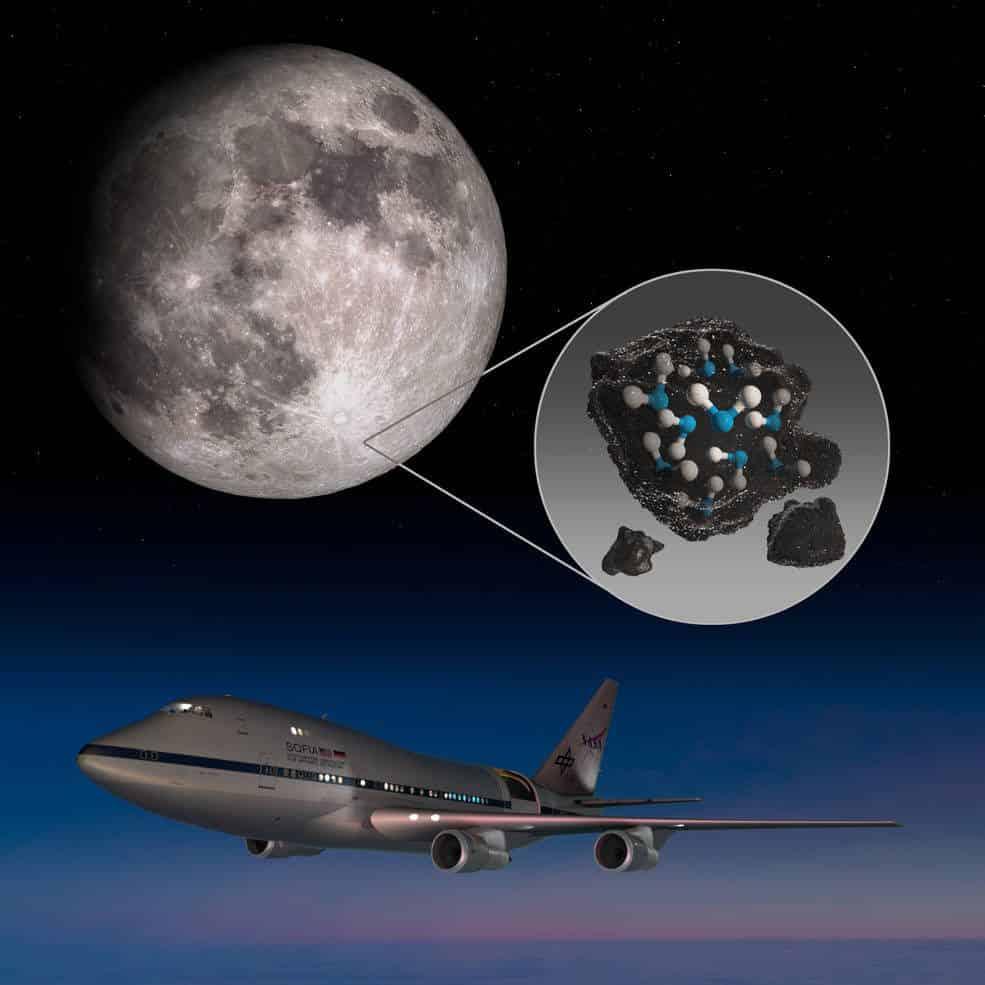 importância do H2O na Lua