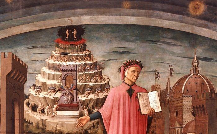 demônios e inferno de Dante