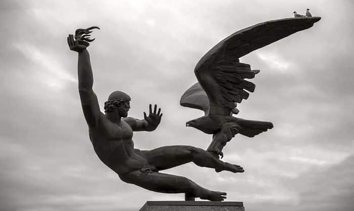 prometeu e abutre enviado por zeus