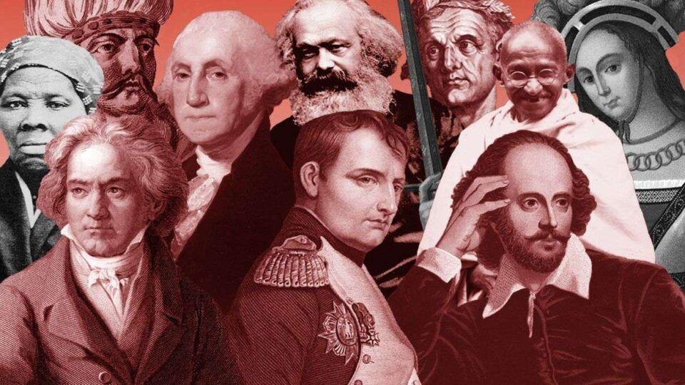 Personalidades importantes – 40 figuras mais influentes da história