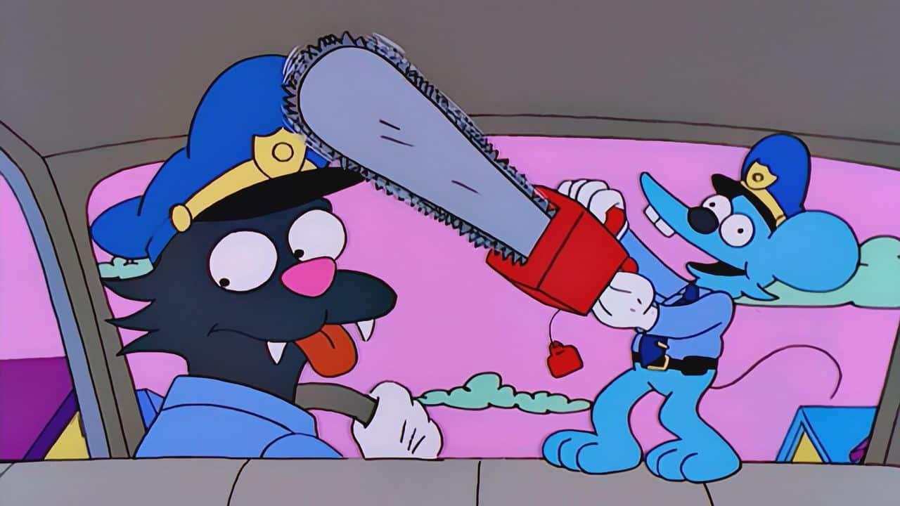Fotografia do Coçadinha no Simpsons para ilustração do item