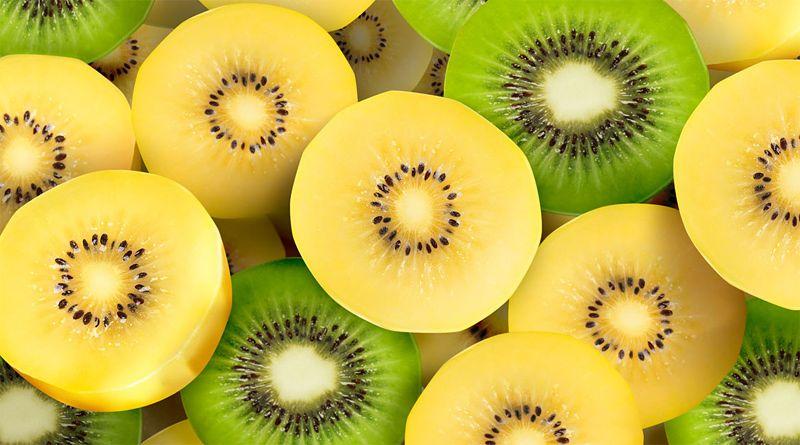 Fotografia de um kiwi amarelo para ilustração do item