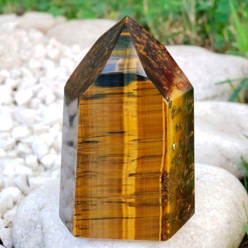 Fotografia de um cristal de olho de tigre para ilustração do item
