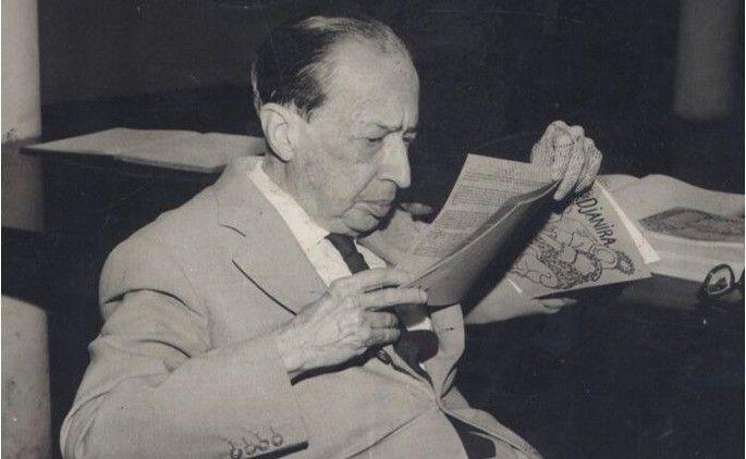 Fotografia de Manuel Bandeira para ilustração do item