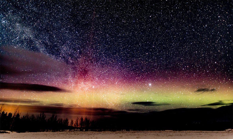 Fotografia do céu no Canadá para ilustração do item