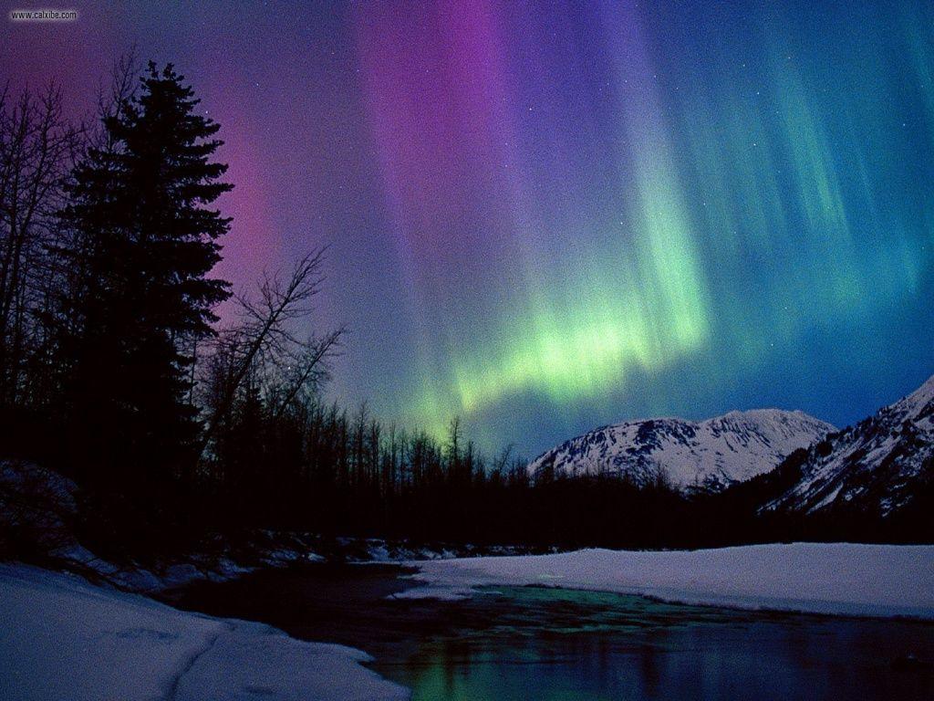 Fotografia do céu no Alasca para ilustração do item