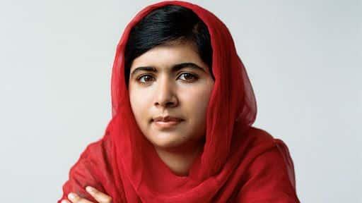 Fotografia da Malala para exemplificação do item