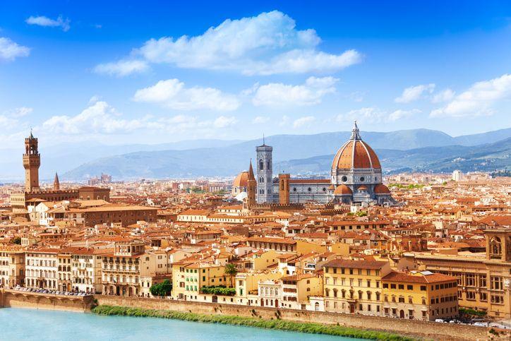 Fotografia de Florença, na Itália, para ilustração do item