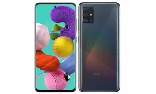 Fotografia do Samsung Galaxy A51 para ilustração do item