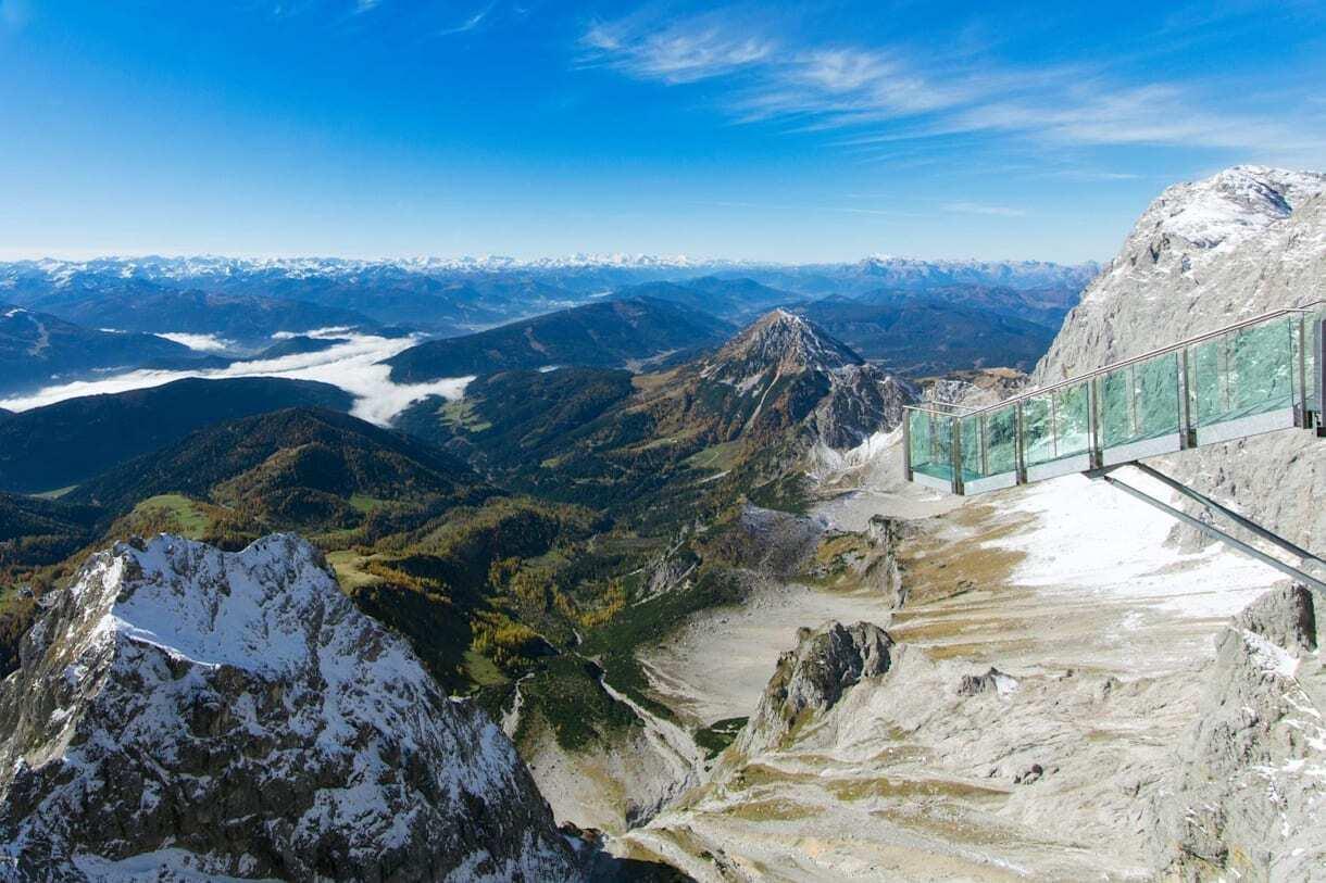 Fotografia da Dachstein Skywalk para ilustração do item