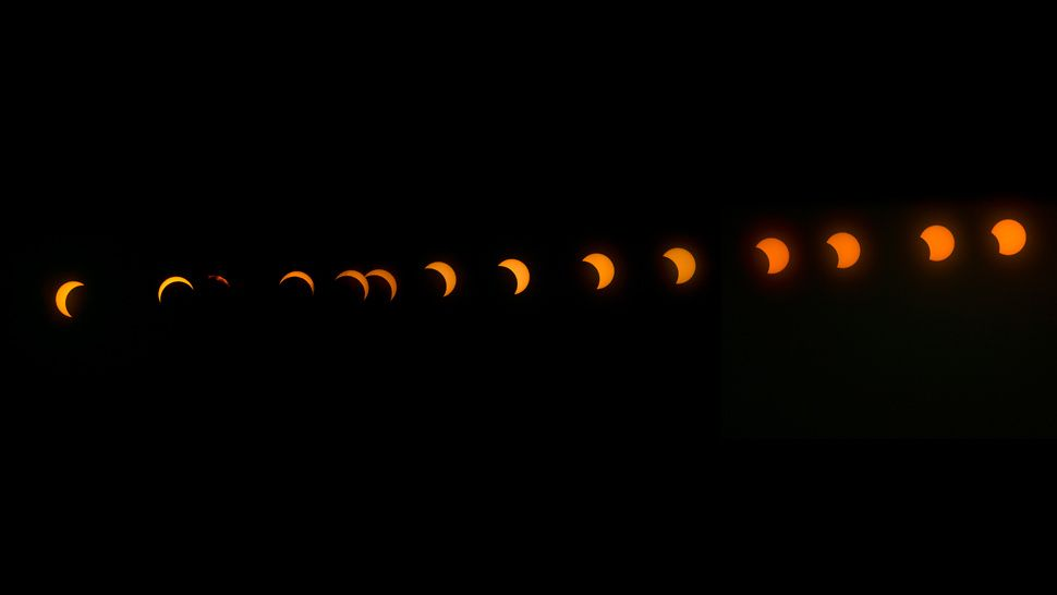 Fotografia de momento astronômico para ilustração do item