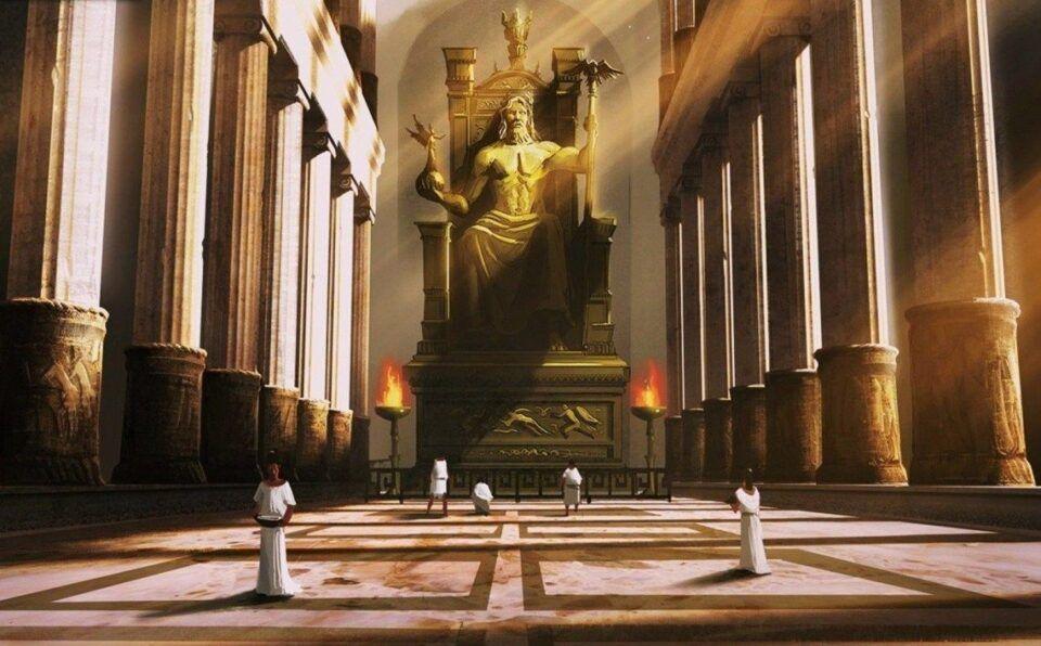 Estátua de Zeus: uma das sete maravilhas do mundo antigo
