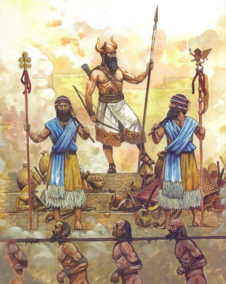 Naram-Sin, quem foi o rei acadiano que se considerava um deus vivo?
