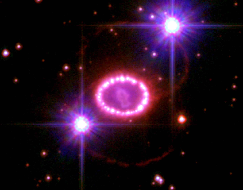 Fotografia de uma supernova