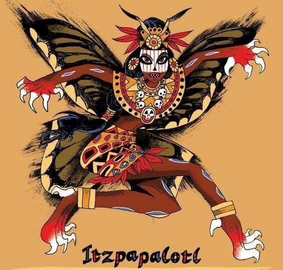 Ilustração da deusa asteca