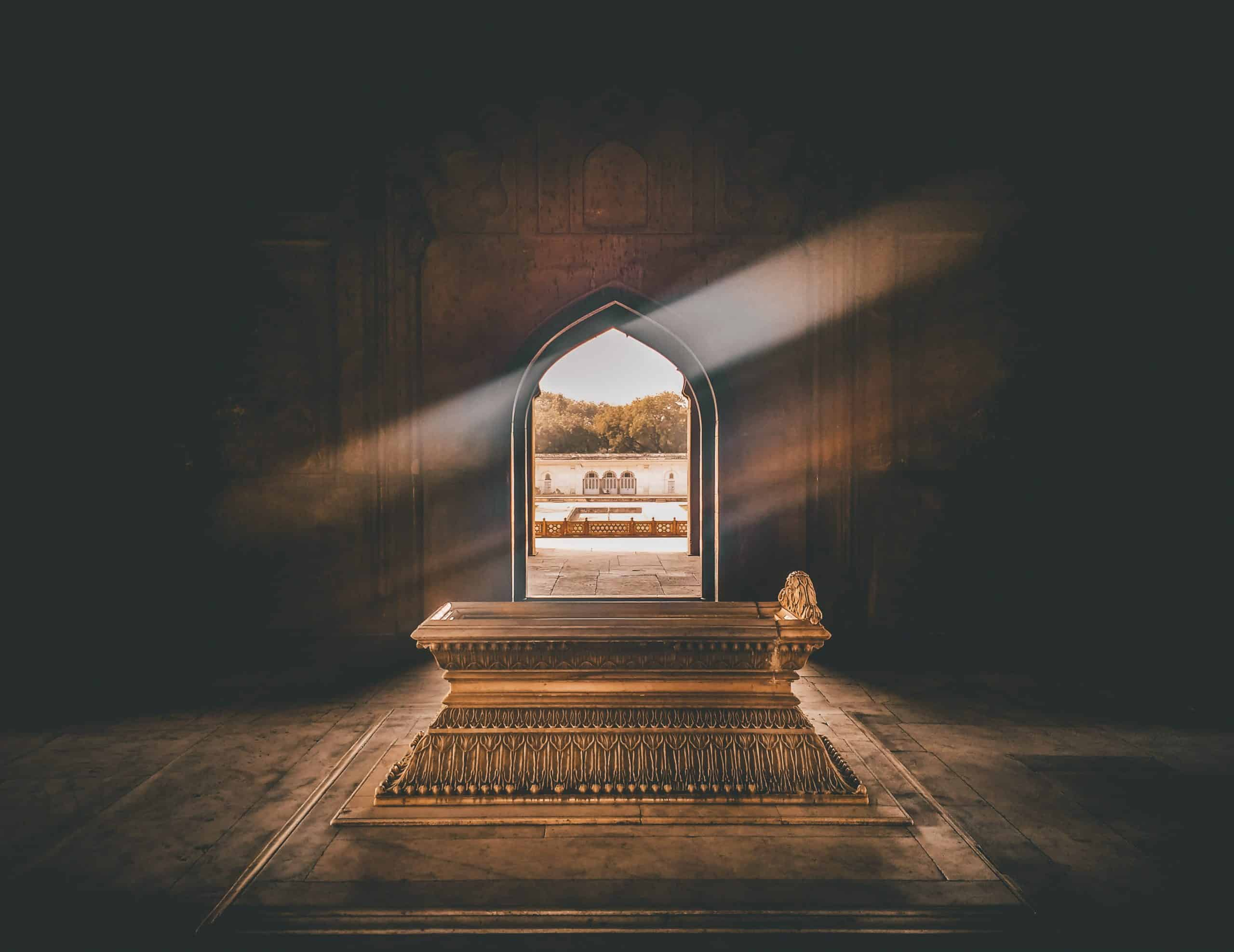 Fotografia de um túmulo